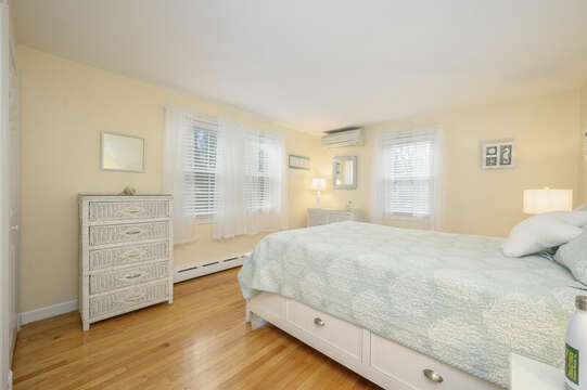 Bedroom #2 Queen bed, dressers, fun coastal accents-50 Foster Road Hyannis Cape Cod- New England Vacation Rentals