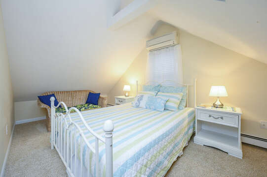 Bedroom #4 upstairs, Queen bed and love seat - 50 Foster Road Hyannis Cape Cod- New England Vacation Rentals