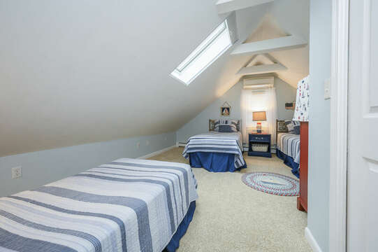 Bedroom #3 upstairs- 3 Twin beds-50 Foster Road Hyannis Cape Cod- New England Vacation Rentals