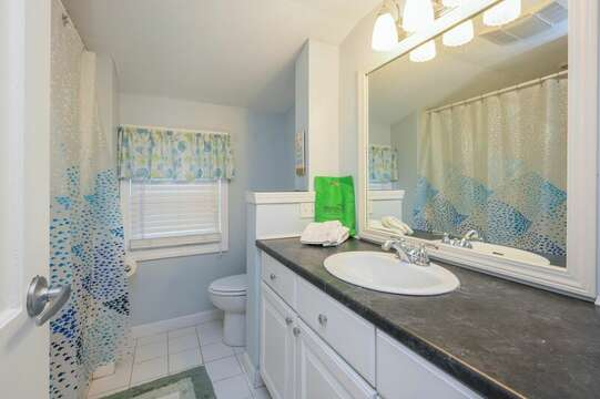 Bathroom #2 full with tub/shower combo-50 Foster Road Hyannis Cape Cod- New England Vacation Rentals