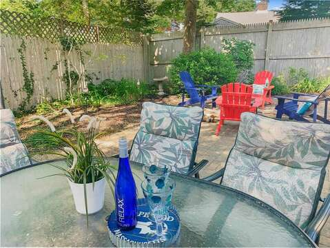 back yard patio-50 Foster Road Hyannis Cape Cod- New England Vacation Rentals