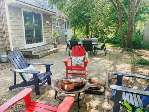 Back yard patio -50 Foster Road Hyannis Cape Cod- New England Vacation Rentals