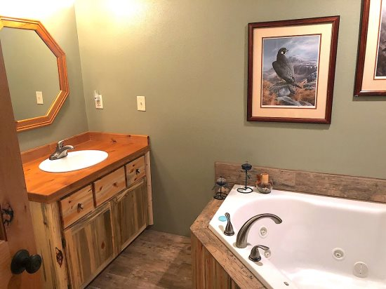 Lower Level Master Bath with custom vanity