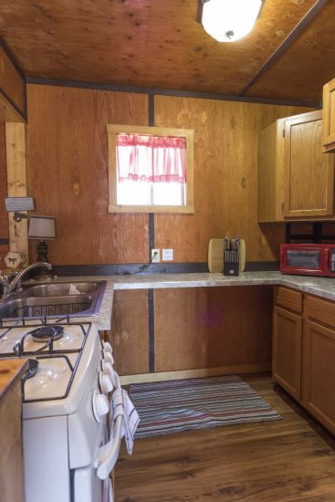 Compact kitchen has all the basics