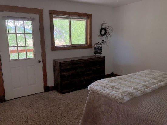 Bedroom 2 with exterior door