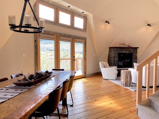 Dine with mountain views