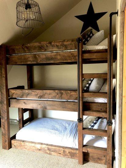 Custom triple level bunk