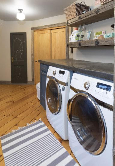 Main level laundry room with a view