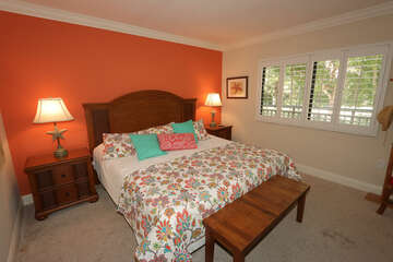 Guest bedroom with king bed