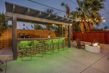 It will feel like your own private beach club with the large outdoor bar.