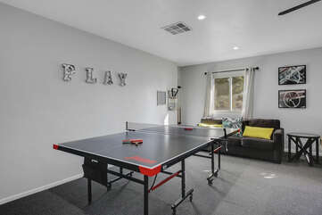 Play some friendly ping pong games or challenge the group with a tournament!