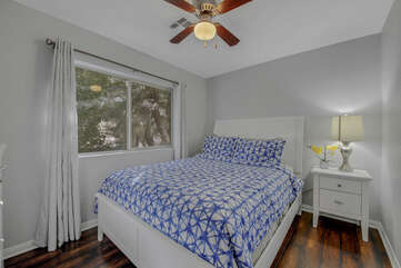 Bedroom 3 is located next to Suite 2 and features a Full-sized Bed, 40-inch Vizio HD television.