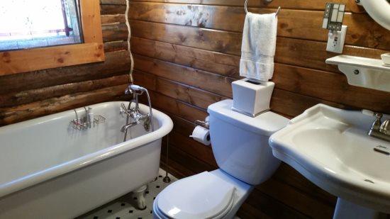 Full Bathroom with Claw Foot Tub