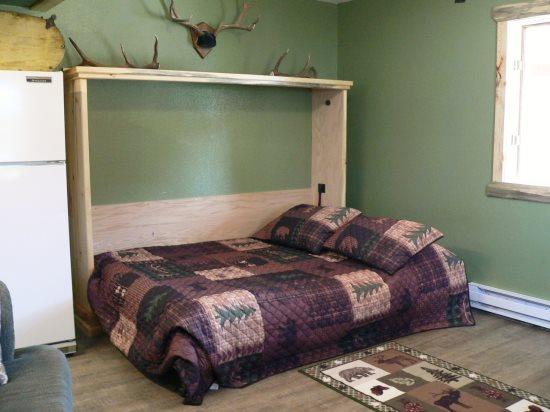 Murphy bed in living area