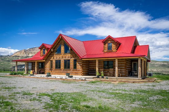 Custom built log home-look closely at these logs they may surprise you