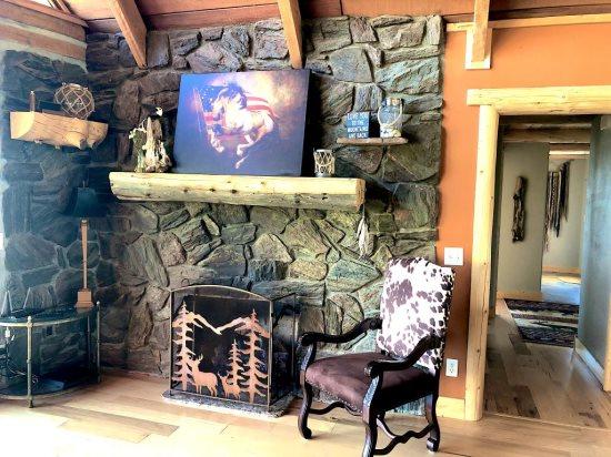 living area fireplace