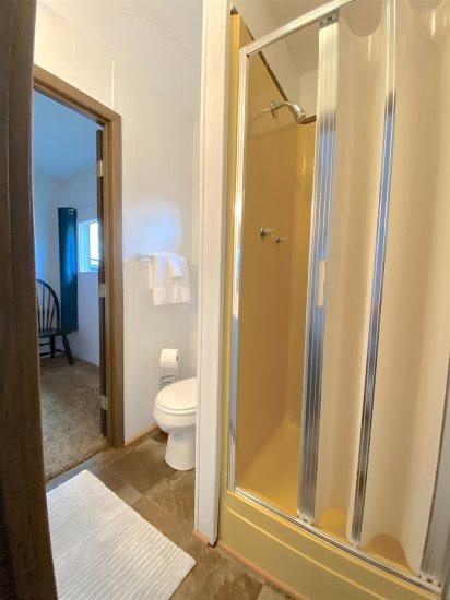 Shower in jack & jill bathroom