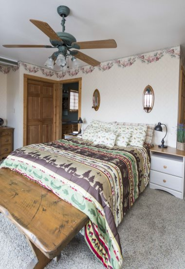 Bedroom with attached full bath