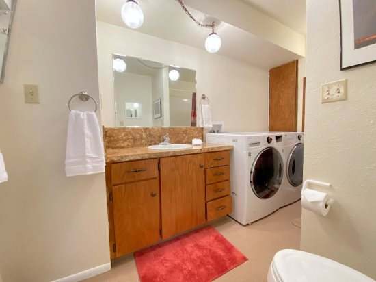 Bathroom/washer and dryer