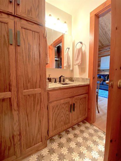 Galley style bathroom