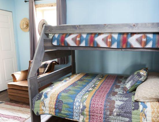 Main Floor Bedroom with twin over full bunk