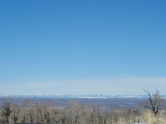 Pryor Mountain range across the valley