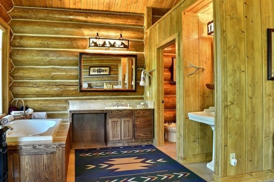 Upstairs Master Bathroom with large tub separate from shower
