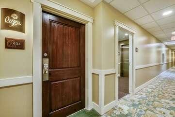 Door to condo