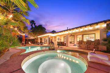 Casa Feliz has everything you need to feel right at home, miles away from any worries. This luxury style resort home features 5 bedrooms and plenty of fun!