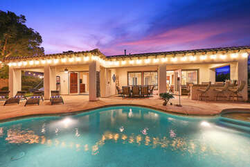 Casa Feliz has a large backyard, perfect for the whole family.