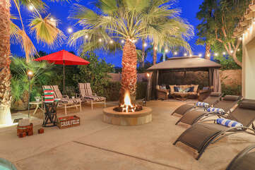 Play some oversized Jenga or enjoy a margarita under the cabana to keep cool.