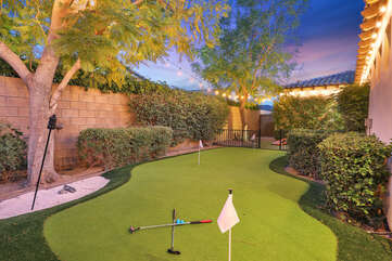 Get your practice in with some putt-putt golf, enjoy the 3-hole putting green with your friends.
