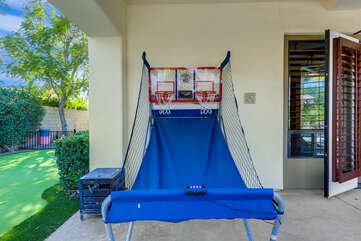 Challenge your friends and family and show them up with your shooting skills on the basketball game, located outside the Master Suite.