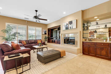As you enter Casa Feliz you are greeted with an open floor plan and spacious living area.