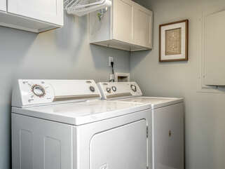 Full size washer/dryer on first floor
