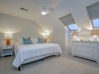 Upstairs guest bedroom with King bed
