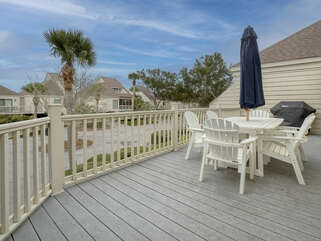 Enjoy the deck with table seating and propane grill