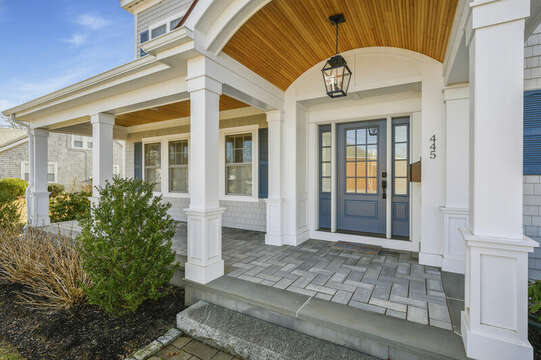 Front door (entrance is through side door)-445 Lower County Rd Harwich- Cape Cod- New England Vacation Rentals.