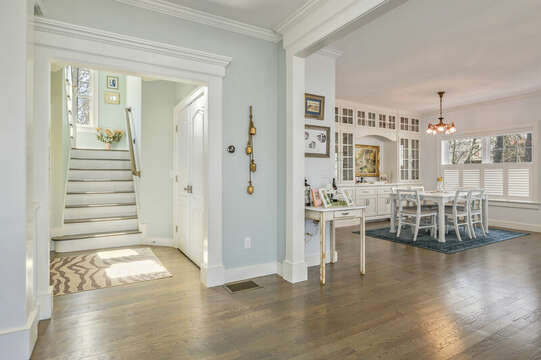 Entry to stairs to second level-445 Lower County Rd Harwich- Cape Cod- New England Vacation Rentals.