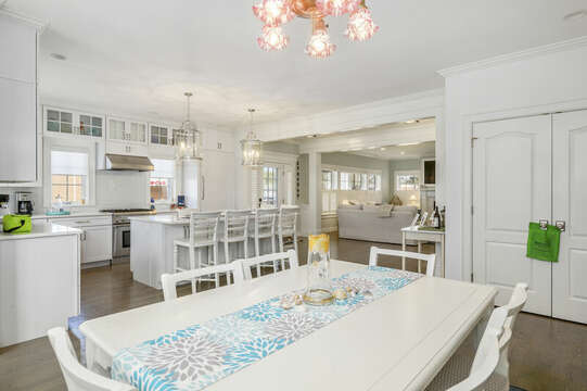 Open concept dining, kitchen-445 Lower County Rd Harwich- Cape Cod- New England Vacation Rentals.