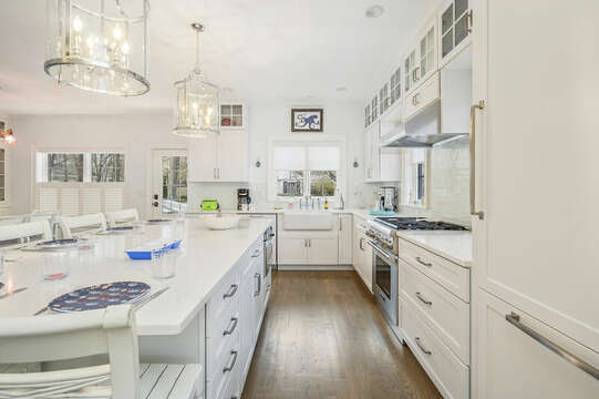 Another view of the kitchen-445 Lower County Rd Harwich- Cape Cod- New England Vacation Rentals.