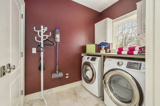 Laundry room-445 Lower County Rd Harwich- Cape Cod- New England Vacation Rentals.