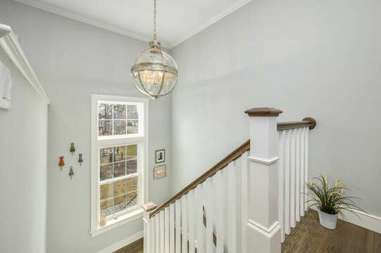 Second floor landing-445 Lower County Rd Harwich- Cape Cod- New England Vacation Rentals.