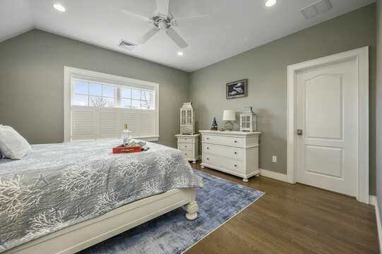 Bedroom #2 king bed with large walk in closet-445 Lower County Rd Harwich- Cape Cod- New England Vacation Rentals.