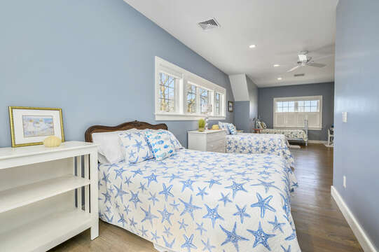 Other Sleeping Area - Large room 2 double beds and 2 twins-445 Lower County Rd Harwich- Cape Cod- New England Vacation Rentals.
