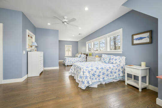 Other Sleeping Area - Large room with 2 double beds and 2 twin beds, dressers-445 Lower County Rd Harwich- Cape Cod- New England Vacation Rentals.