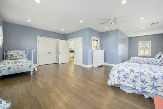 Other Sleeping Area - Large room with 4 beds 2 doubles and 2 twins -445 Lower County Rd Harwich- Cape Cod- New England Vacation Rentals.