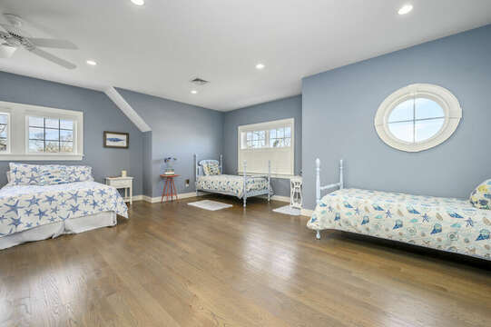 Other Sleeping Area - Large room with 2 Twins and 2 double beds-445 Lower County Rd Harwich- Cape Cod- New England Vacation Rentals.