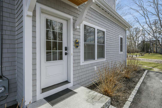 Side entrance (guests will enter this way) - 445 Lower County Rd Harwich- Cape Cod- New England Vacation Rentals.