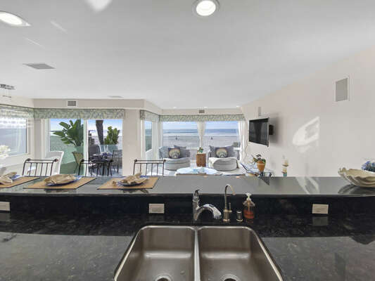 Ocean Views from Kitchen - Second Floor